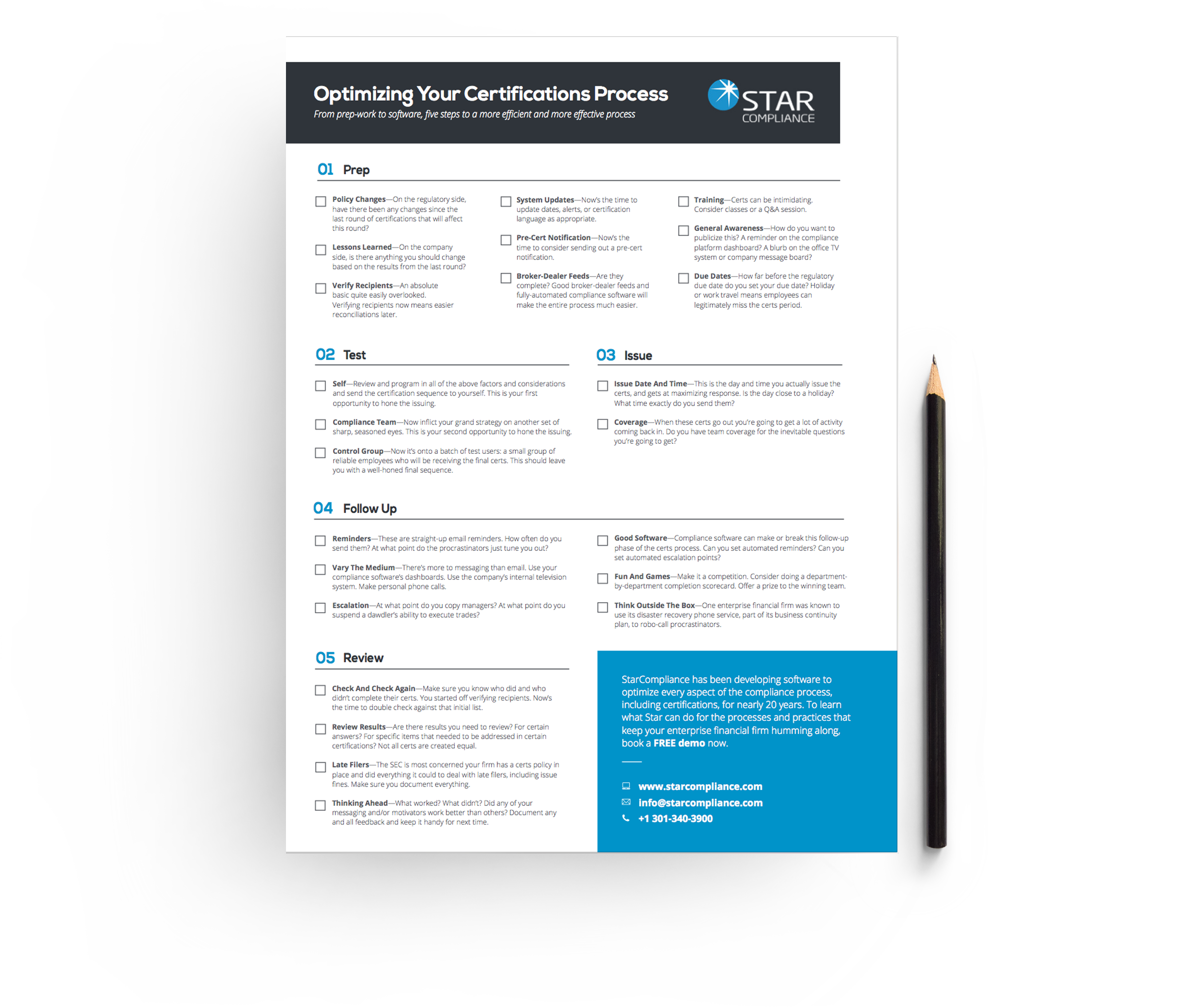 Certifications-checklist CTA